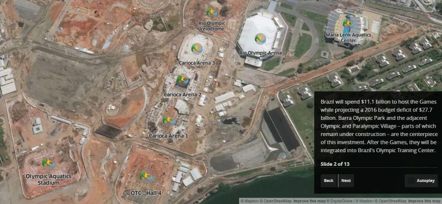 Pozrite si športoviská olympijských hier vRiu