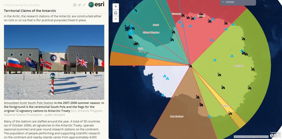 Územné nároky naAntarktídu (interaktívna mapa)
