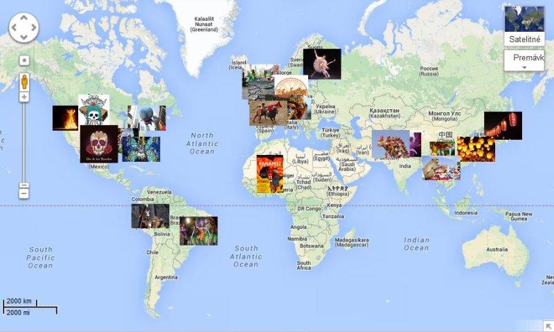 žiacka mapa Google Maps