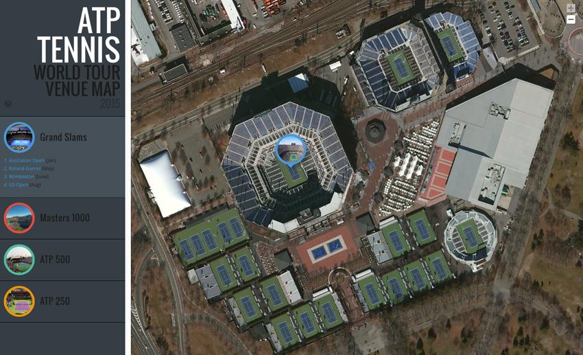 Ak ste fanúšik tenisu, túto mapu musíte vidieť