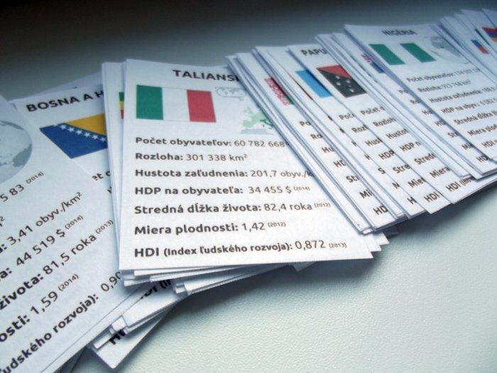 štáty sveta kartová spoločenská hra