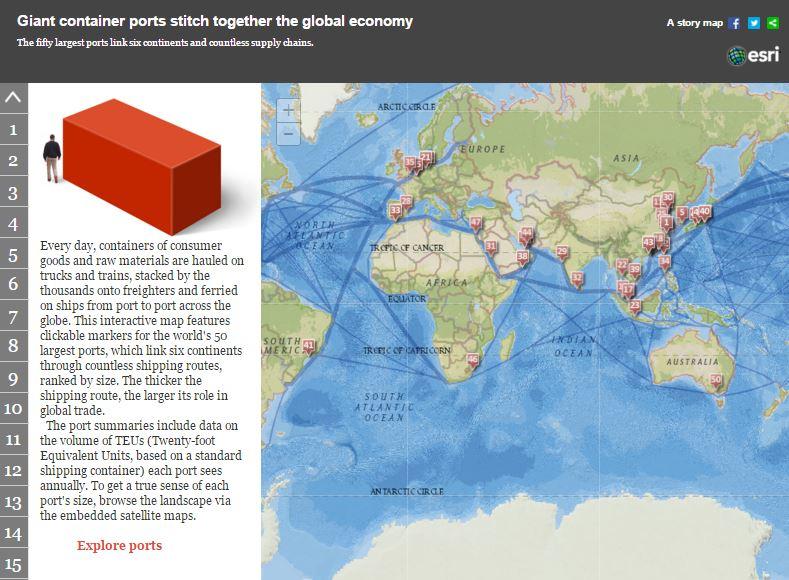 50 najväčších prístavov sveta (interaktívna mapa)