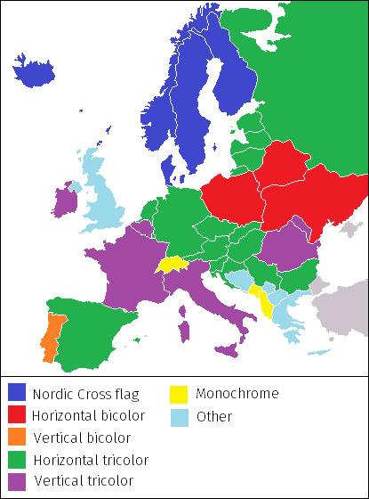 Ktorý štát má akú vlajku? Pozrite si netradičné mapy Európy
