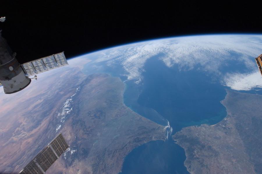 satelitná snímka Gibraltár