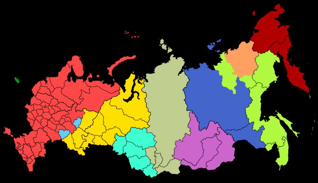 Rusko ajeho časové pásma