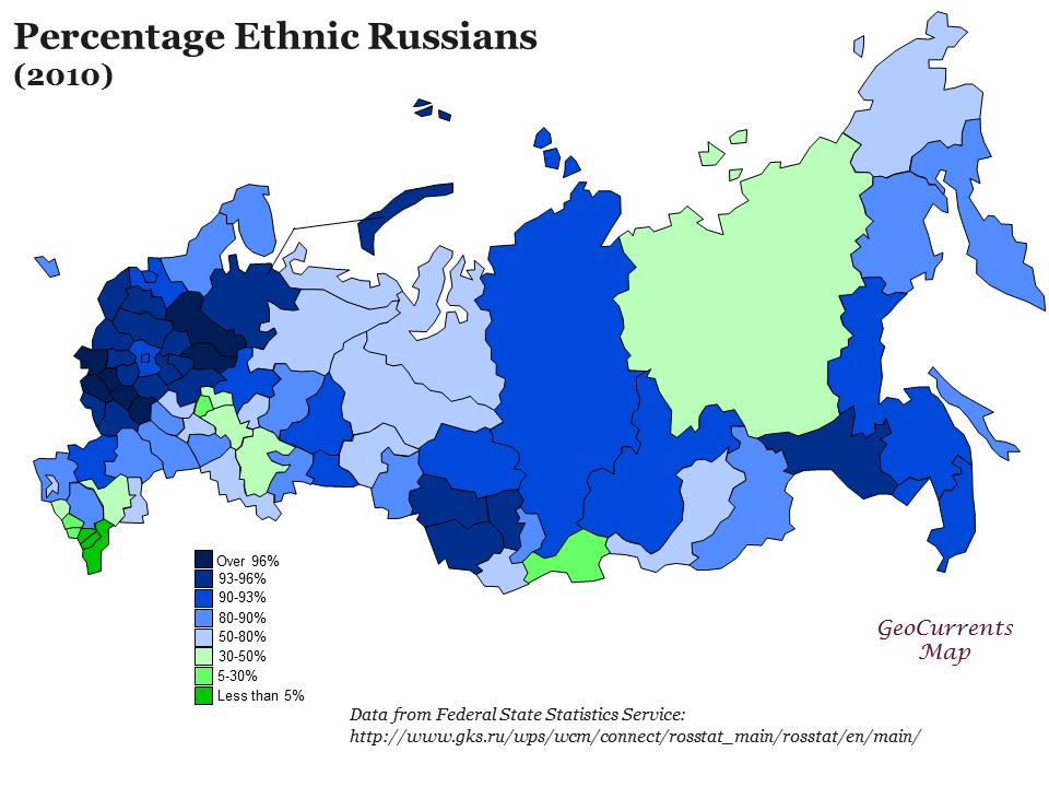 Regionálne rozdiely Ruska namapách