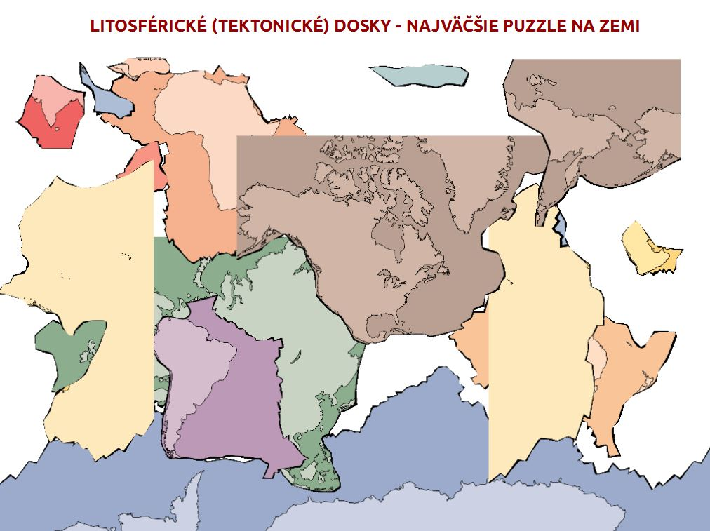 tektonické dosky puzzle hra