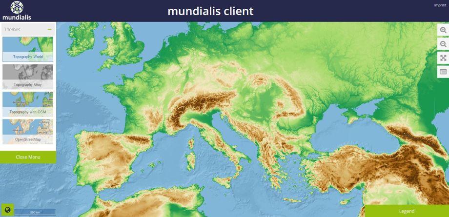 Topografická mapa sveta, naktorú sa môžete pozrieť zblízka