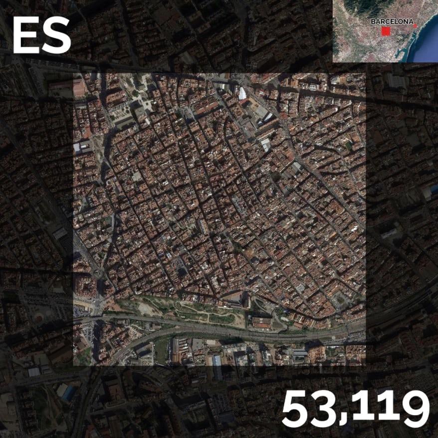 Najhustejšie zaľudnené kilometre štvorcové vEurópe