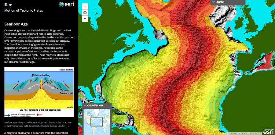 Mapa, ktorá vám rozpovie príbeh platňovej tektoniky
