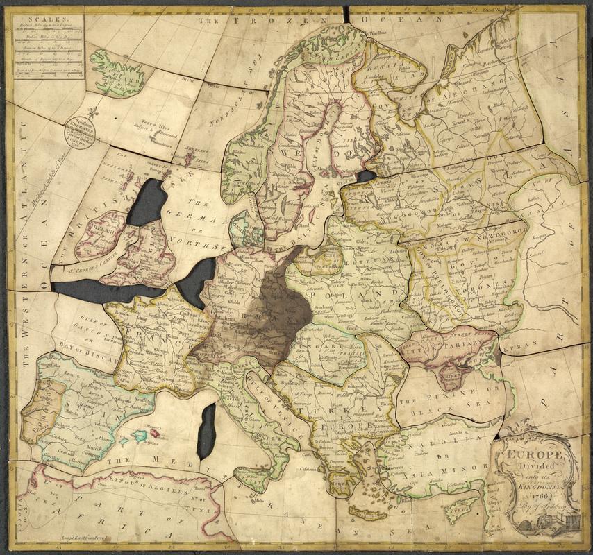 Najstaršie puzzle? Pomôcka privýučbe geografie nakráľovskom dvore