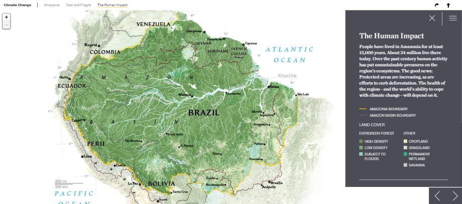 Amazónia vskratke. Pozrite si interaktívneho sprievodcu ohrozenou oblasťou