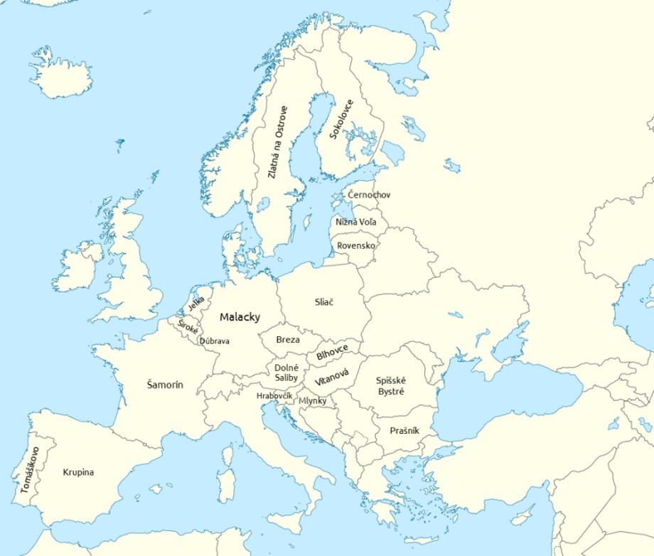 kvóty utečenci mapa