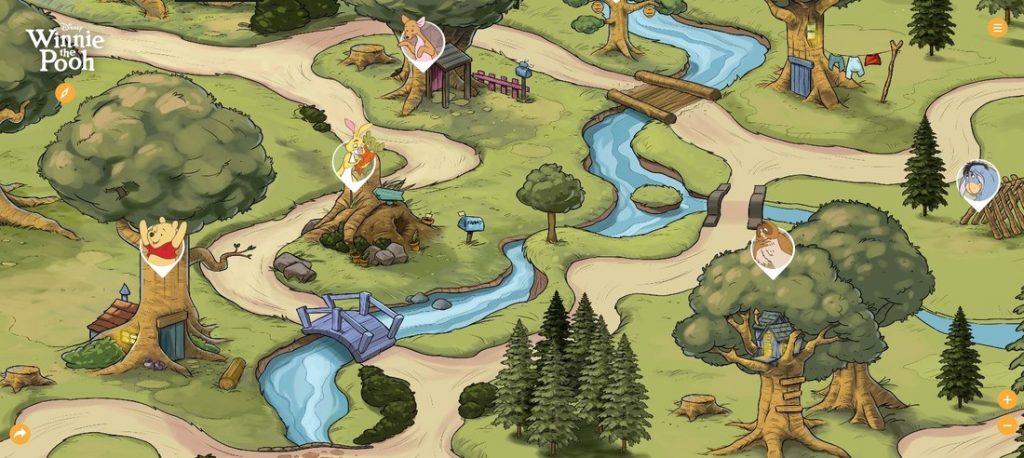 Mapa prenajmenších. Spoznajte Stoakrový les Macka Puf ajeho kamošov