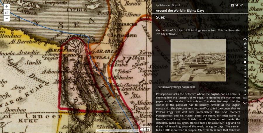Cesta okolo sveta za80dní najednej interaktívnej mape