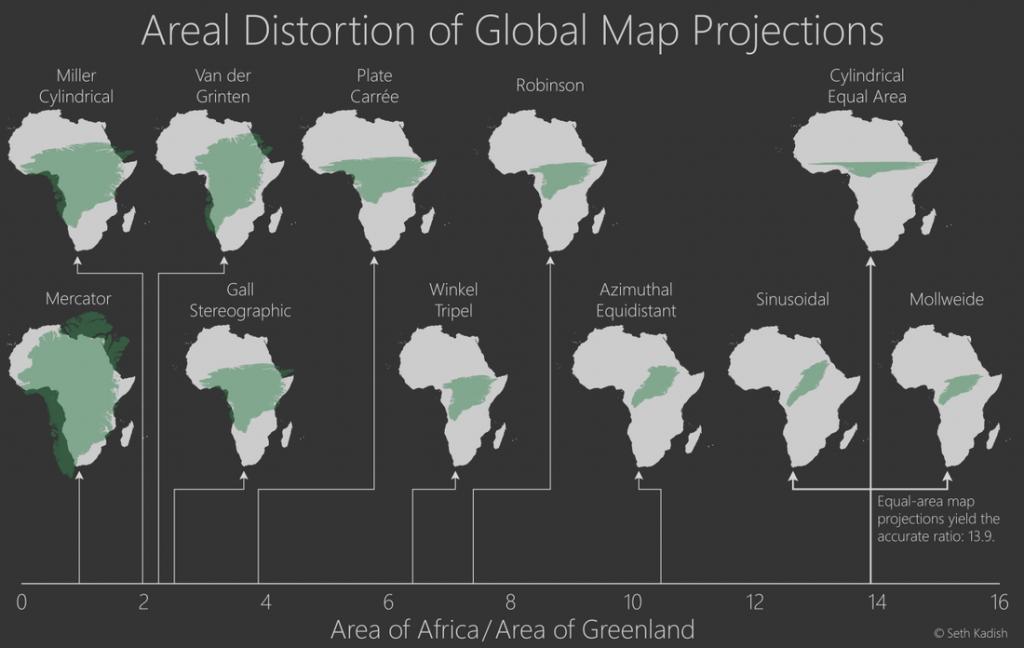 Prečo mení Afrika svoju veľkosť namapách sveta