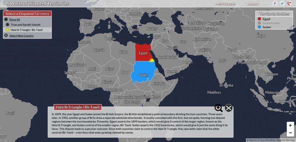 Pozrite si, kde sa štáty sporia oúzemia