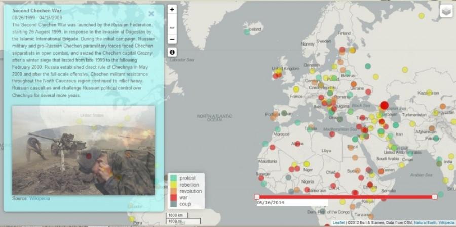 sto rokov nepokojov mapa