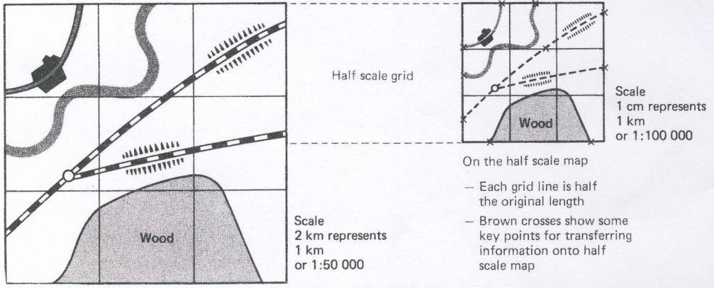 zväčšovanie mapy mriežka