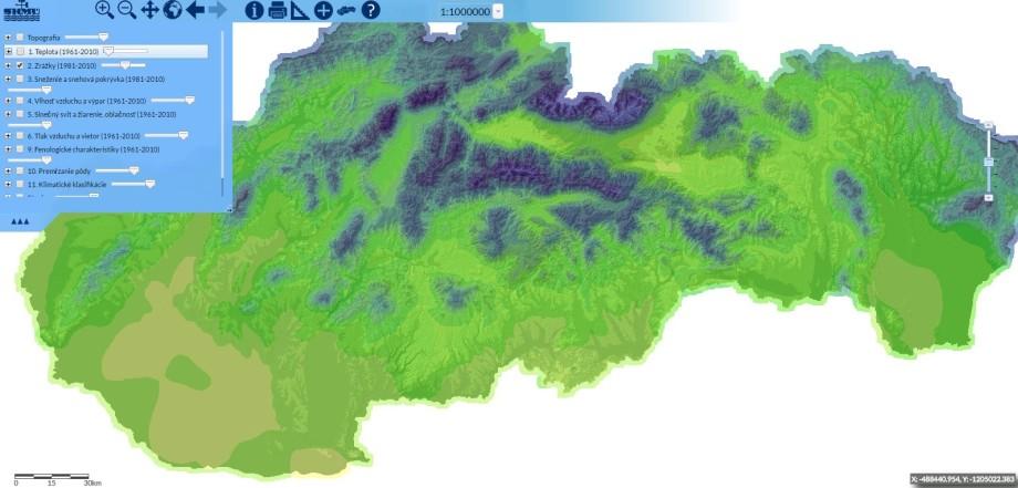 Spoznajte klimatické pomery SR cezinteraktívny atlas SHMÚ