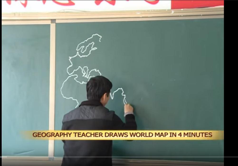 Ako nakresliť mapu sveta spamäti? Učme sa odčínskeho učiteľa
