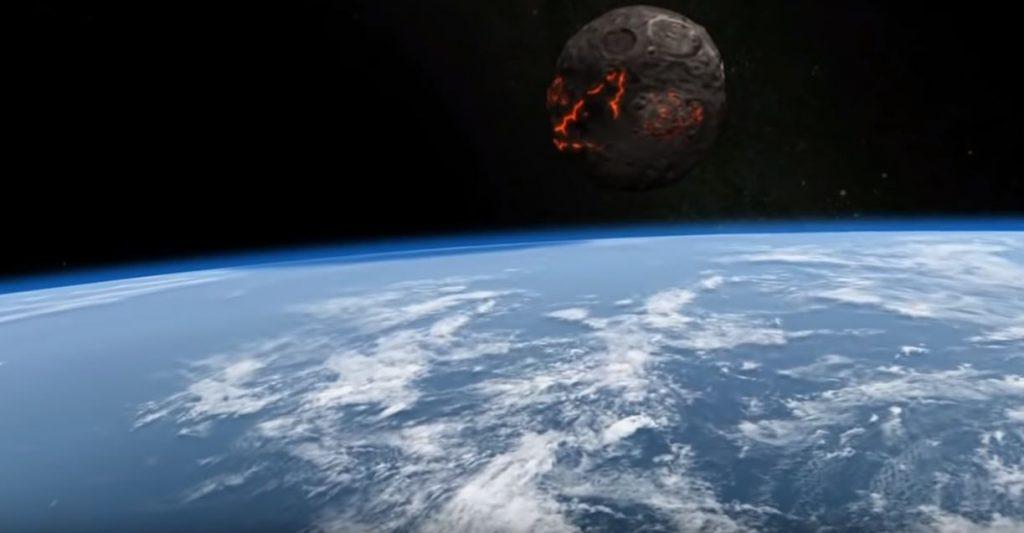 Ako by vyzerala zrážka asteroidu soZemou. Video, ktoré vás vydesí