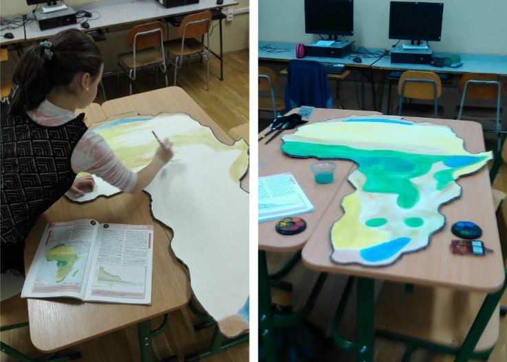 tvorba mapy Afriky škola