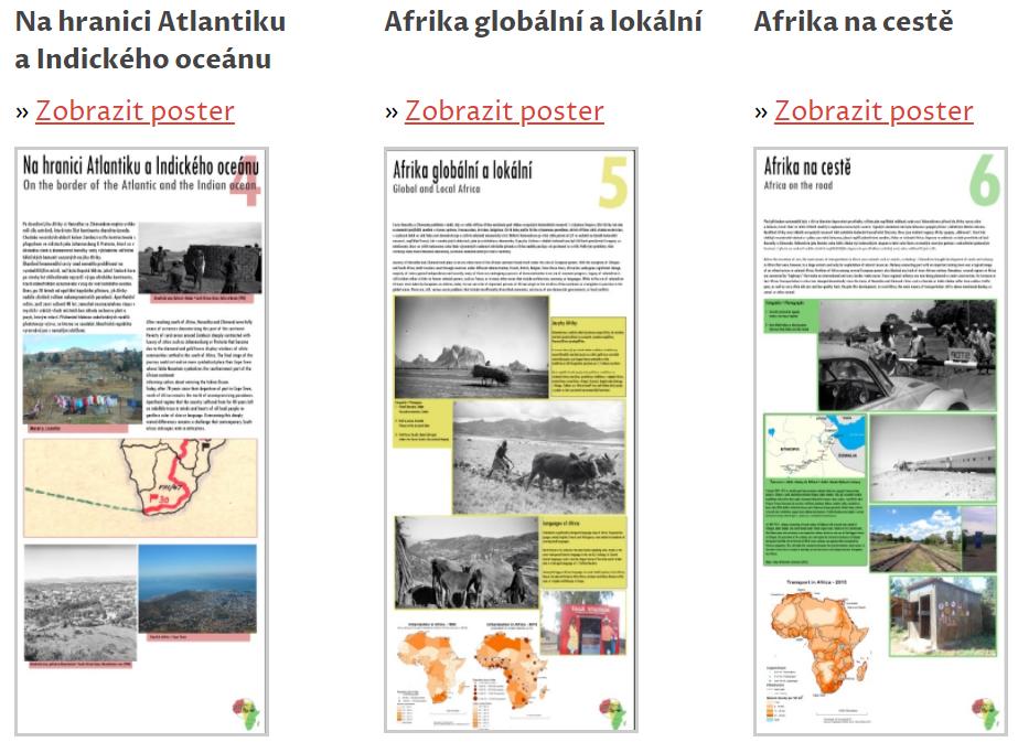 Afrika snov askutočností –tematické plagáty