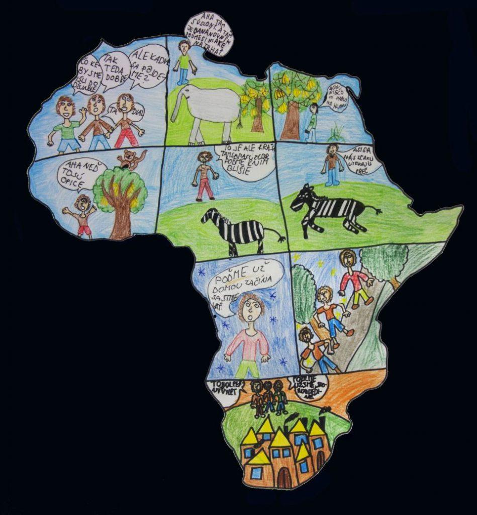detská mapa Afrika