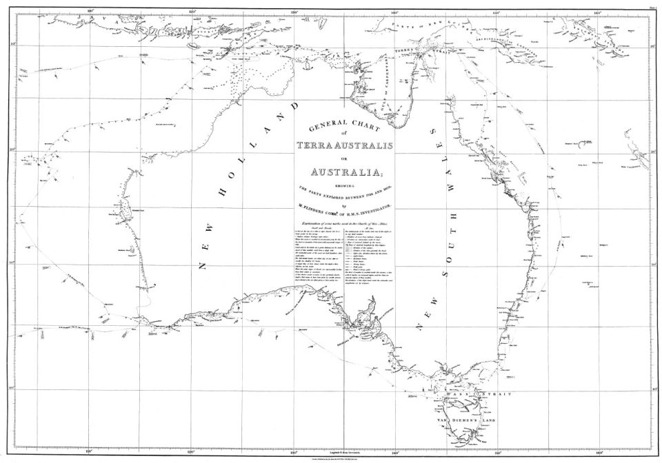 Mapa, ktorá pomenovala Austráliu