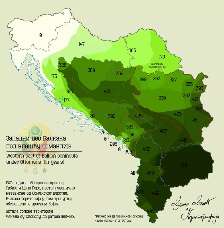 Západný Balkán podnadvládou Osmanskej ríše