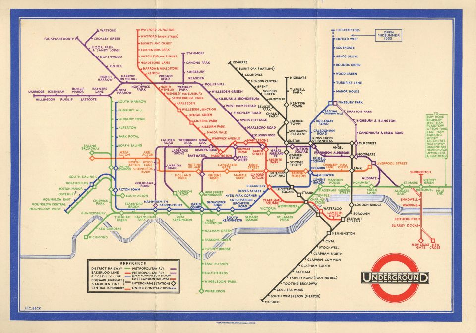 Ako vznikla dizajnérska ikona. Harry Beck amapa Londýnskeho metra