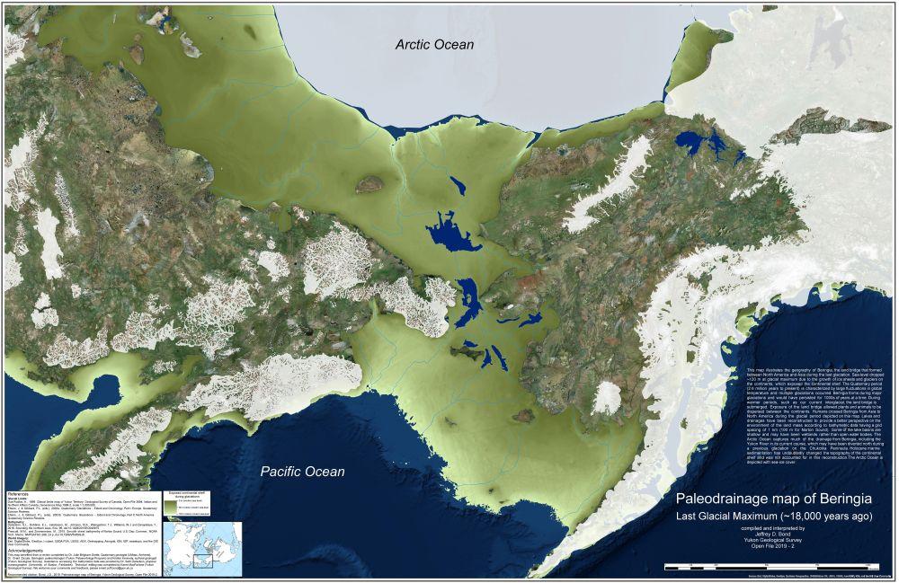 Beringia. Pevninský most medzi Áziou aAmerikou vdobe ľadovej