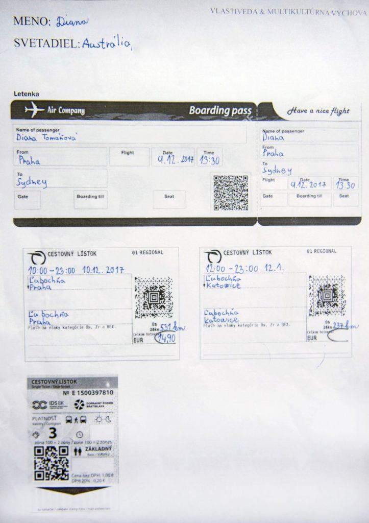 cestovné lístky škola
