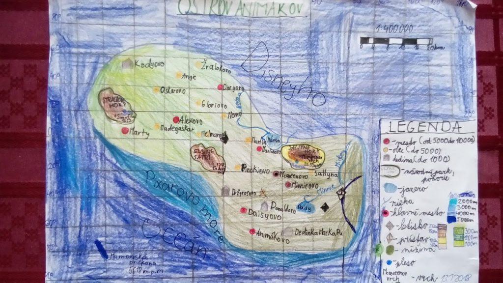 rozprávková mapa