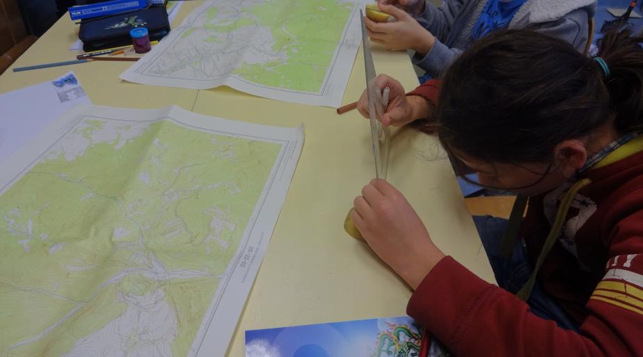 Meranie na mapách školská geografia