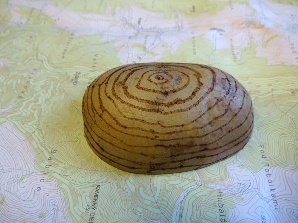 zemiakový vrch vrstevnice
