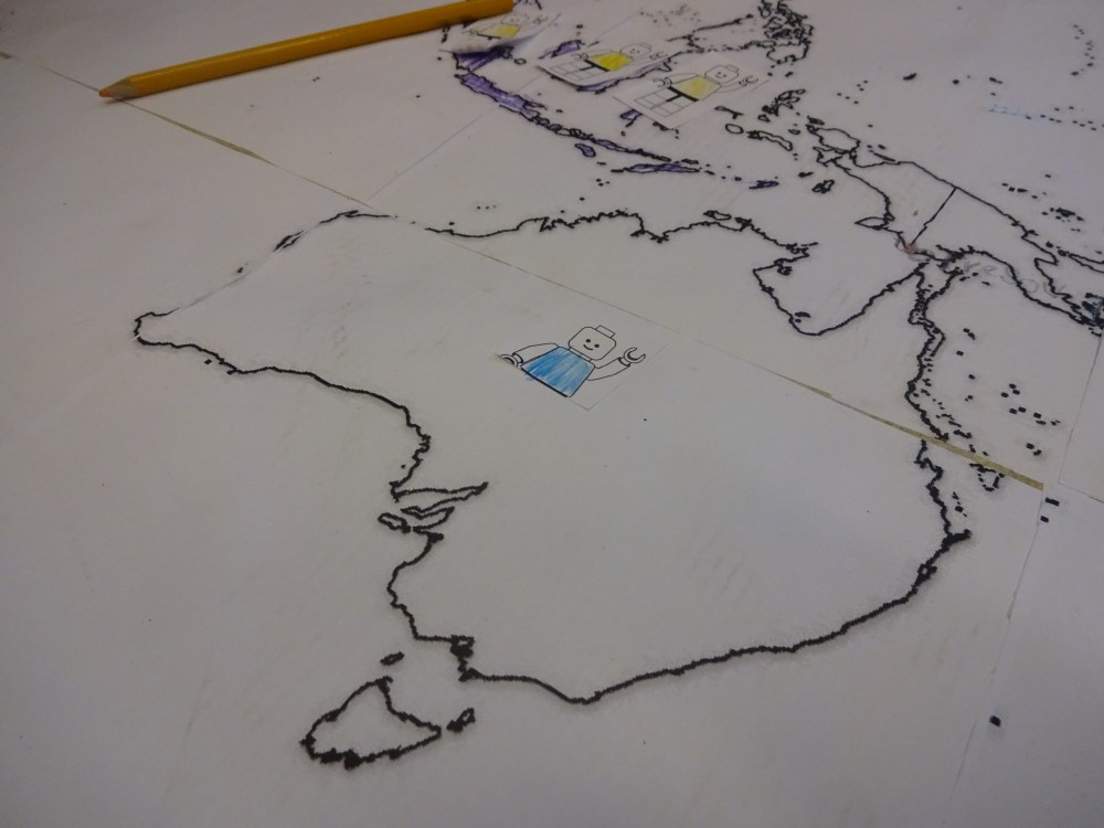 Austrália vytlačená mapa