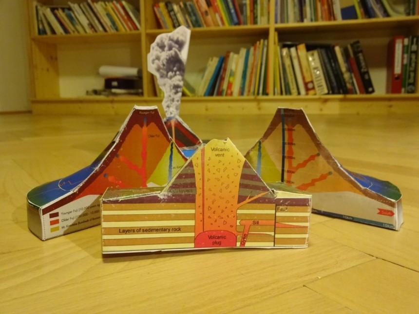 model sopka z papiera