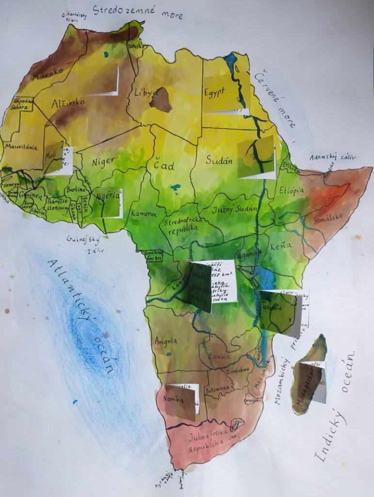 mapa Afriky žiacky projekt