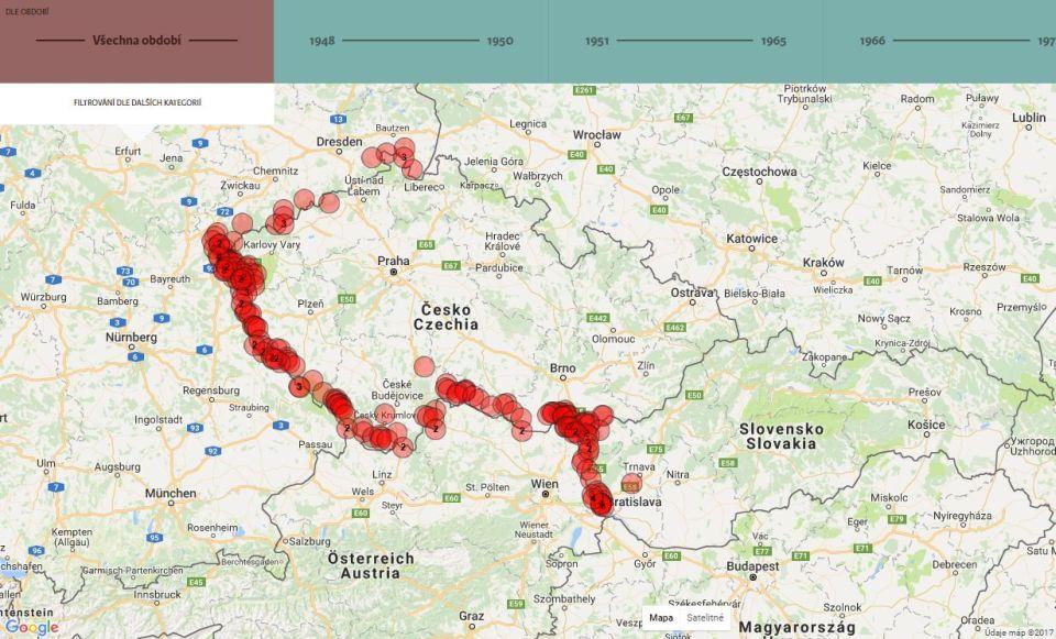 Smrť nahranici. Mapa československej Železnej opony