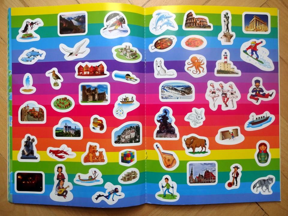nálepky atlas sveta pre deti