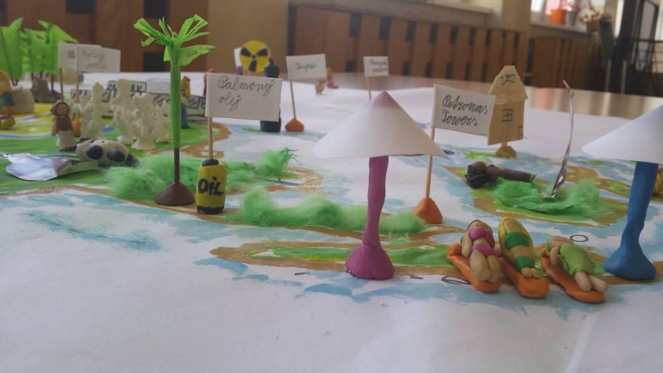 plastická mapa model škola