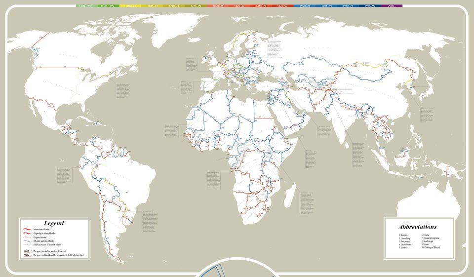 Ako staré sú súčasné medzinárodné hranice? Podrobná mapa vás prekvapí