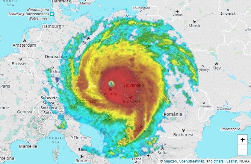 Mapa, ktorá zmení váš pohľad nahurikány. Aká veľká bola Irma vporovnaní sEurópou?