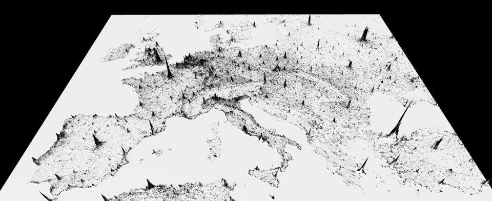 Holandsko spohoriami? Pozrite si netradičnú mapu hustoty zaľudnenia