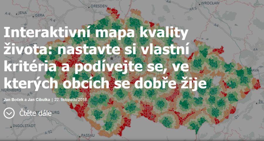Kde sa akodobre žije? Interaktívna mapa kvality života vČesku