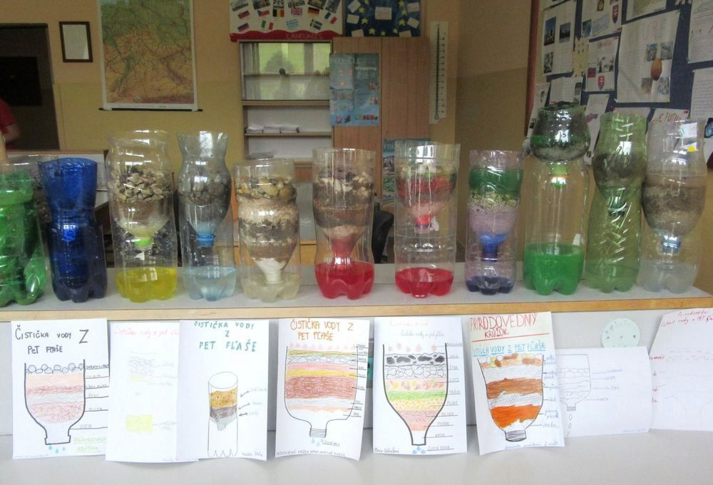 čistička vody z PET fľaše