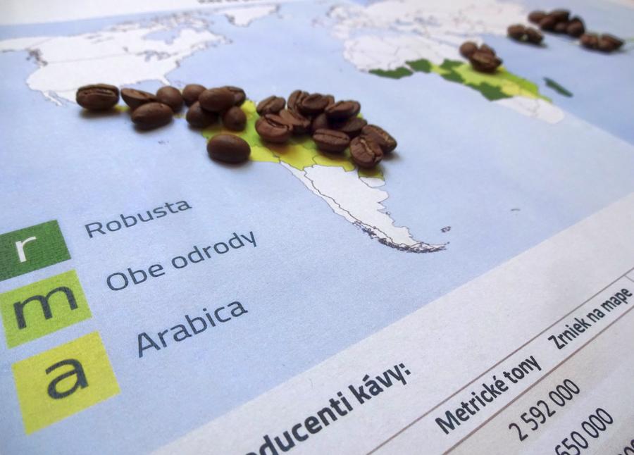 kávová mapa