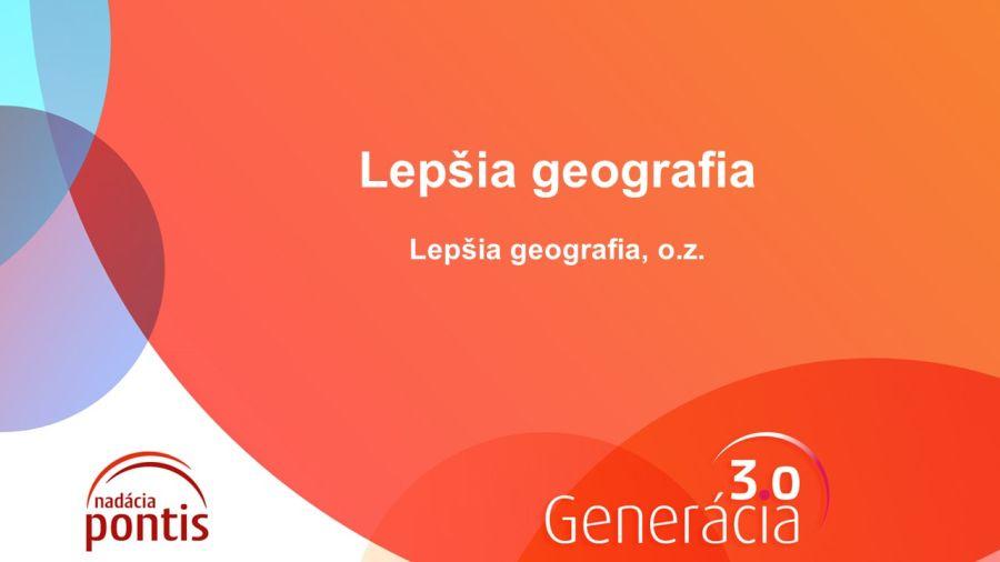 Lepšia geografia prezentácia